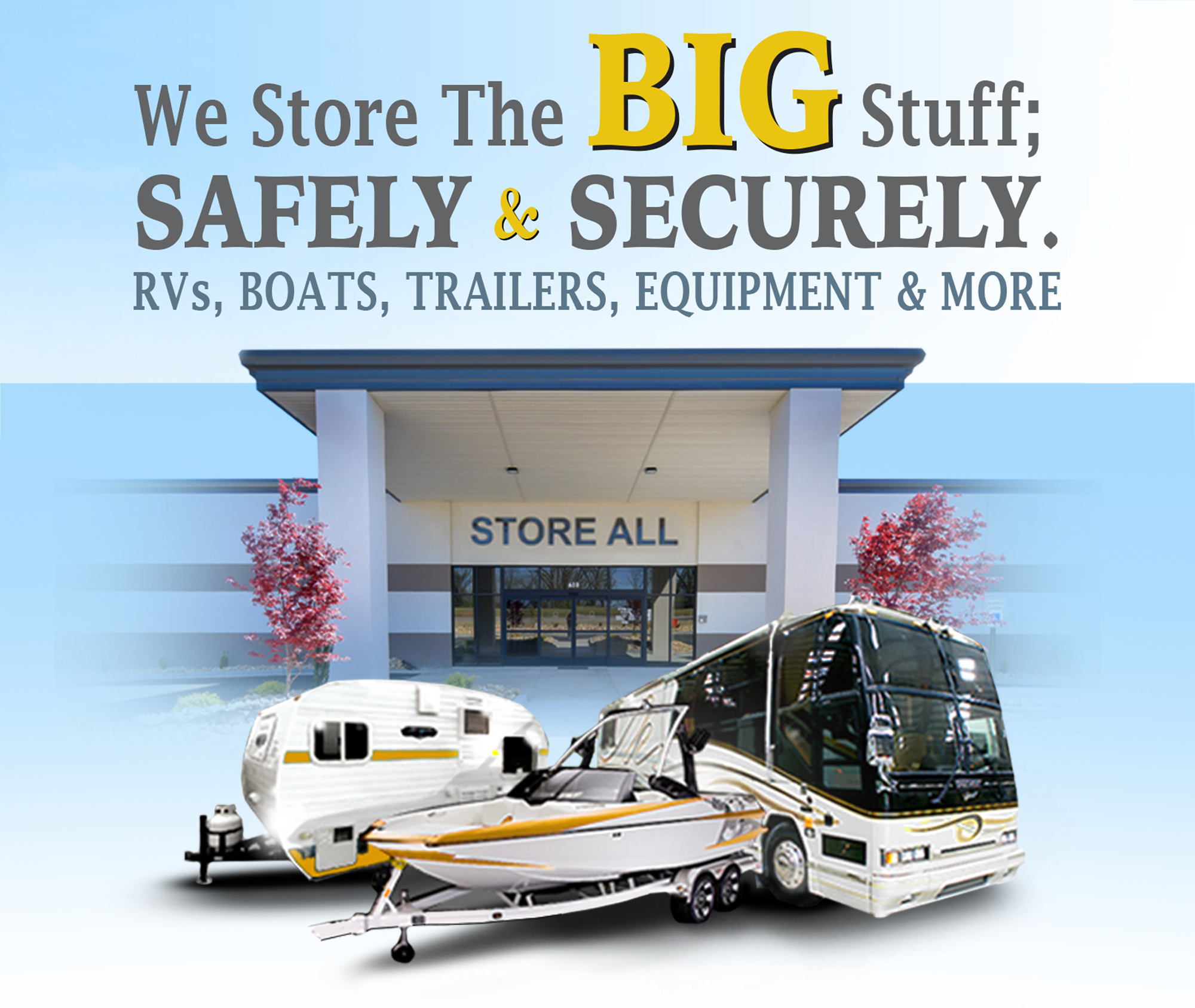 Store all, climate controlled storage, storage units, rv storage, boat storage